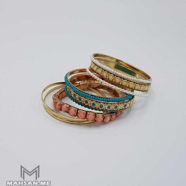 ست دستبند و النگو رنگی