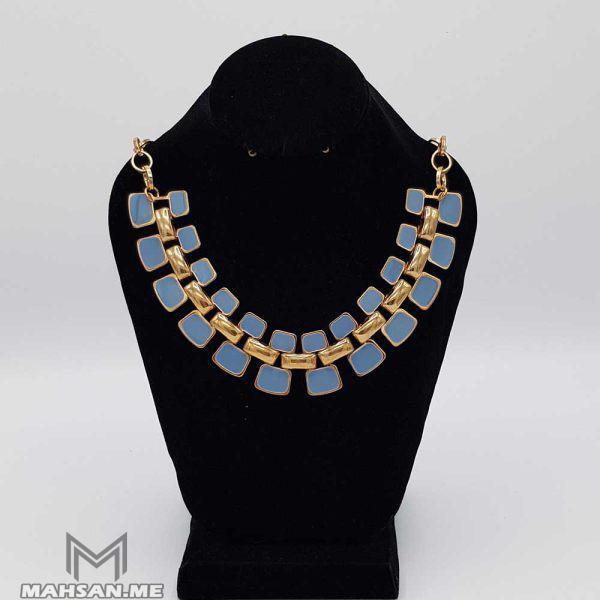گردنبند طلایی آبی