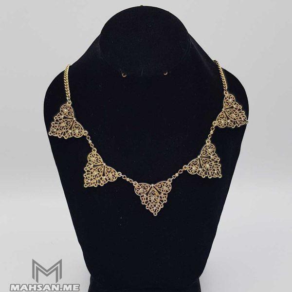 گردنبند ملیله مثلثی طلایی